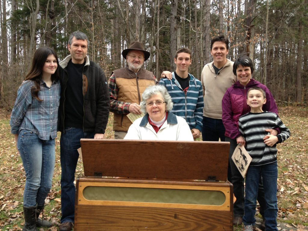 The Pease Family on October Mountain with Jeff Belanger.
