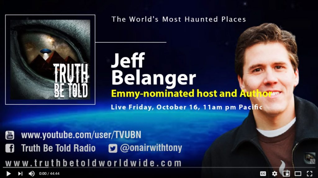 Tony Sweet of Truth Be Told interviews Jeff Belanger.